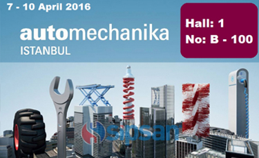 We will be in 2016 Automechanika Istanbul Exibitions
